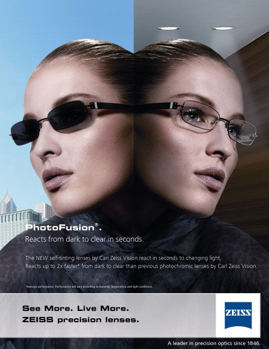 a9ca688799c ... FREE ZEISS upgrade to their PHOTOFUSION lenses. zeiss Photofusion